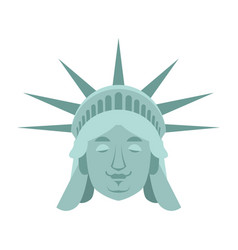 statue of liberty sleeping emoji us landmark vector image