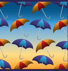 summer and rain season vector image