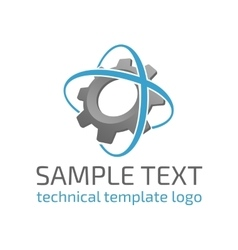 Template logo gear vector
