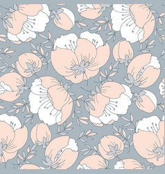 Tender elegant rose flower seamless pattern vector