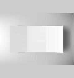 Tri-fold a5 brochure isolated on white background vector