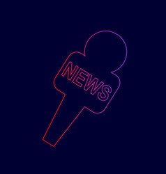 tv news microphone sign line vector image