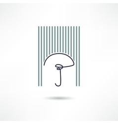 umbrella icon vector image vector image