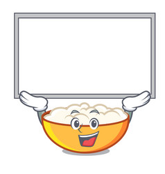 Up board cottage cheese character cartoon vector