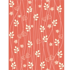 Valentines Foliage Pattern vector image