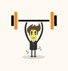 Weightlifter business man vector