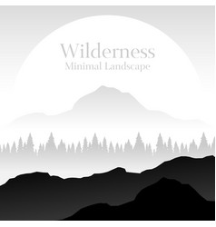 Wilderness minimal landscape with copy space vector