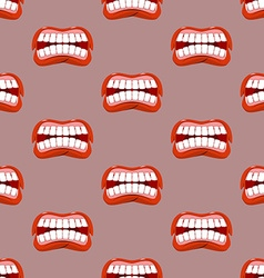 Yells lips seamless pattern Creek background vector