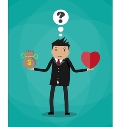 Businessman balance Work and life vector image vector image