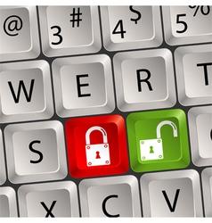 computer keyboard lock key vector image
