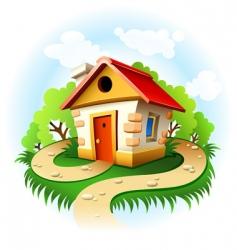 fairytale house vector image vector image