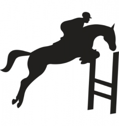 horse silhouette vector vector image vector image