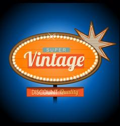 retro vintage motel banner sign vector image