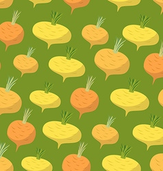 Yellow turnip pattern Seamless background with vector image vector image