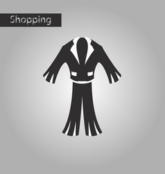 Black and white style icon men suit vector