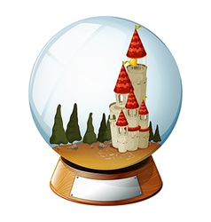 Castle Crystal Ball vector image vector image