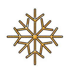 christmas snowflake winter decoration seasonal vector image