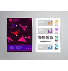 Design brochure template vector image vector image