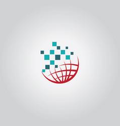 Globe tech logo vector