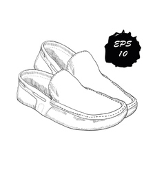 hand drawn graphic classic shoes vector image vector image