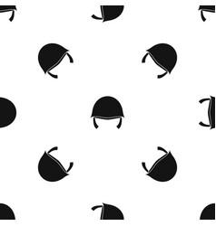 military helmet pattern seamless black vector image