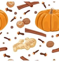 Pumpkin spice seamless pattern set vector image vector image