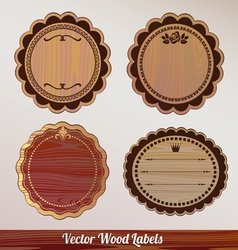 Set Wooden labels classic vintage retro vector image vector image