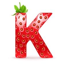 Tasty alphabet vector image