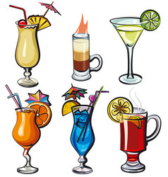 alcohol cocktails vector image