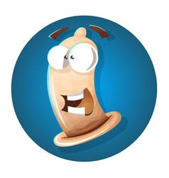 Condom cartoon funny vector