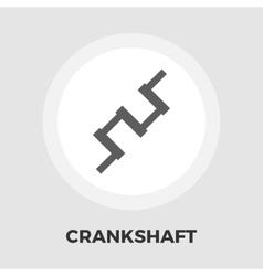 Crankshaft flat icon vector