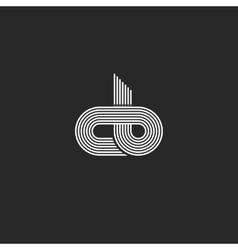 Initials cb logo monogram linked together c b vector image vector image