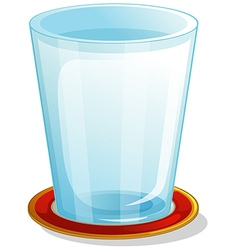 A clear drinking glass vector image vector image