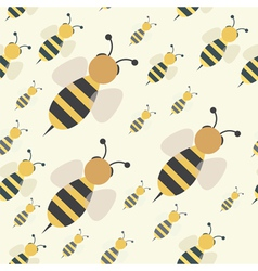 abstract bee swarm vector image vector image