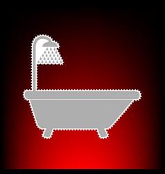 bathtub style on vector image