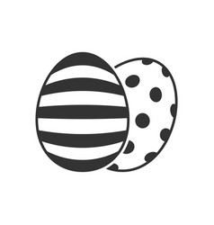 easter eggs icon vector image vector image