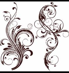 grunge floral element vector image