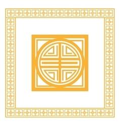oriental design knot icon vector image