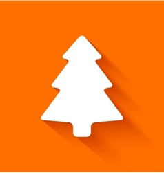 Abstract christmas tree on orange background vector