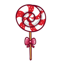 Balollipop sweet candy dessert for kids vector