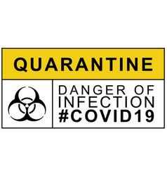 Biohazard warning quarantine danger infection vector