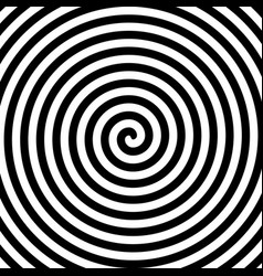 Black and white hypnosis spiral vector