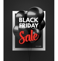 Black Friday Sale concept background vector image