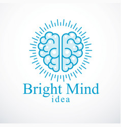 Bright mind logo or icon with human anatomical vector