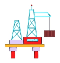 Building crane icon flat style vector image