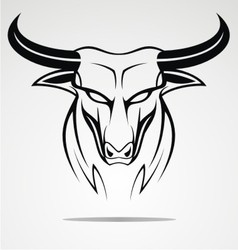 Bulls Head Tribal vector