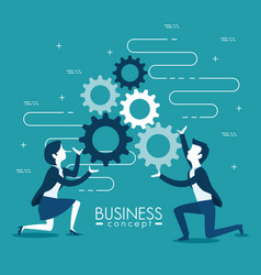 business and management design vector image