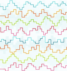 colored pixel zigzag seamless pattern vector image