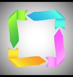 Colorful Ribbon Arrow Round Rectangle vector image