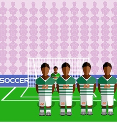 Cote dIvoire Soccer Club Penalty on Stadium vector